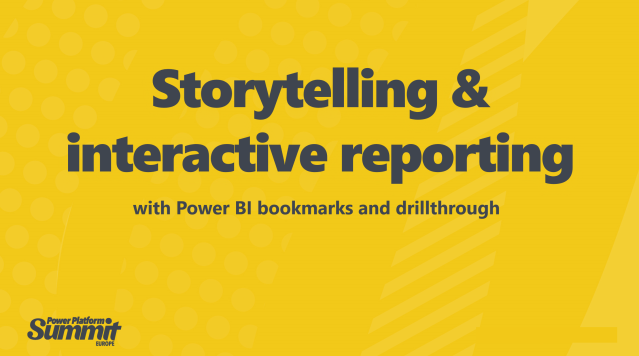 Storytelling and Interactive Reporting