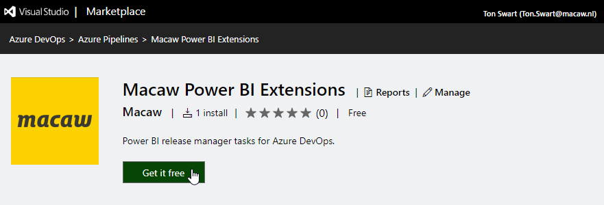 2019-11-11 20_21_45-Macaw Power BI Extensions - Visual Studio Marketplace